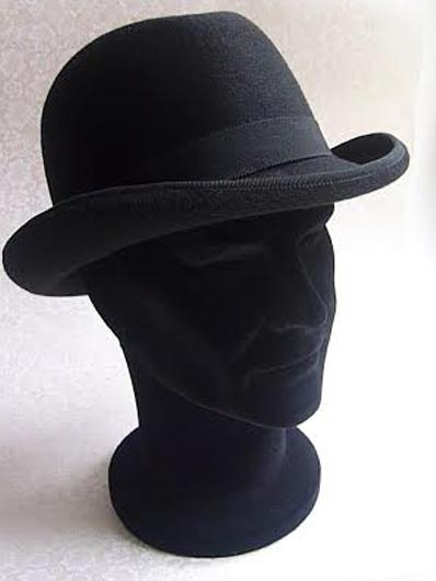 Chapeau homme en mérinos noir